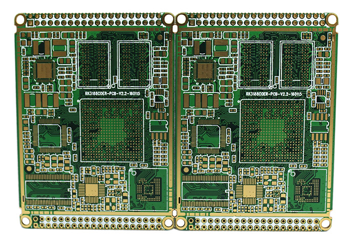 6层阻抗半孔细密线路PCB电路板_导航仪SMT贴片加工