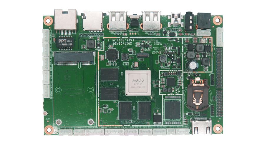 RK3288嵌入式主板_工控主板SMT贴片加工_PCBA加工厂