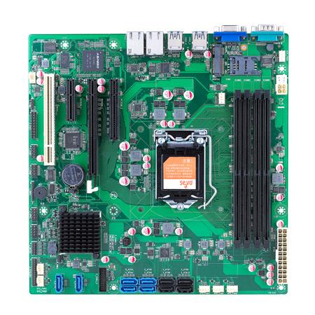 micro-ATX工业主板smt贴片加工_PCBA加工厂家_案例